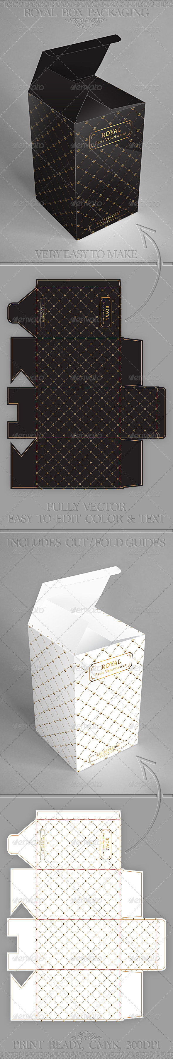 Royal Gift Package Box Template V2 - Packaging Print Templates