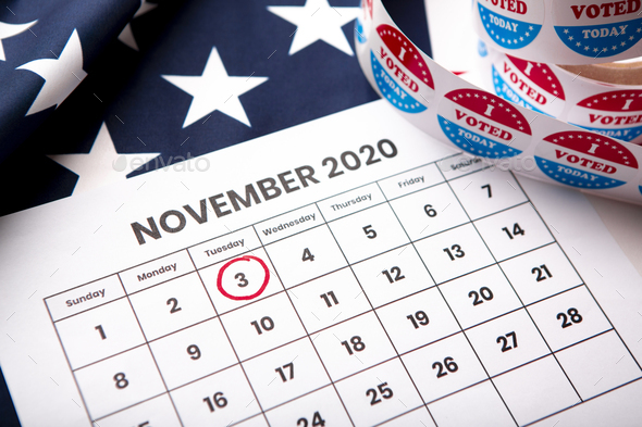 November 2020 presidential election date on calendar concept - Stock Photo - Images