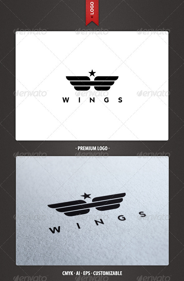 Wings Army Logo Template - Crests Logo Templates