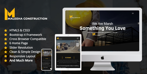 Nice Maleeha - Construction One Page HTML Template
