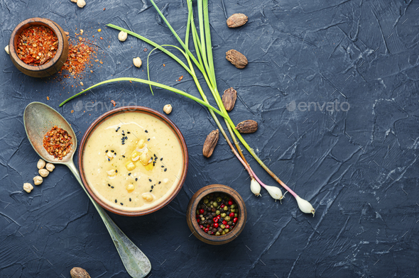 Delicious chickpeas hummus - Stock Photo - Images