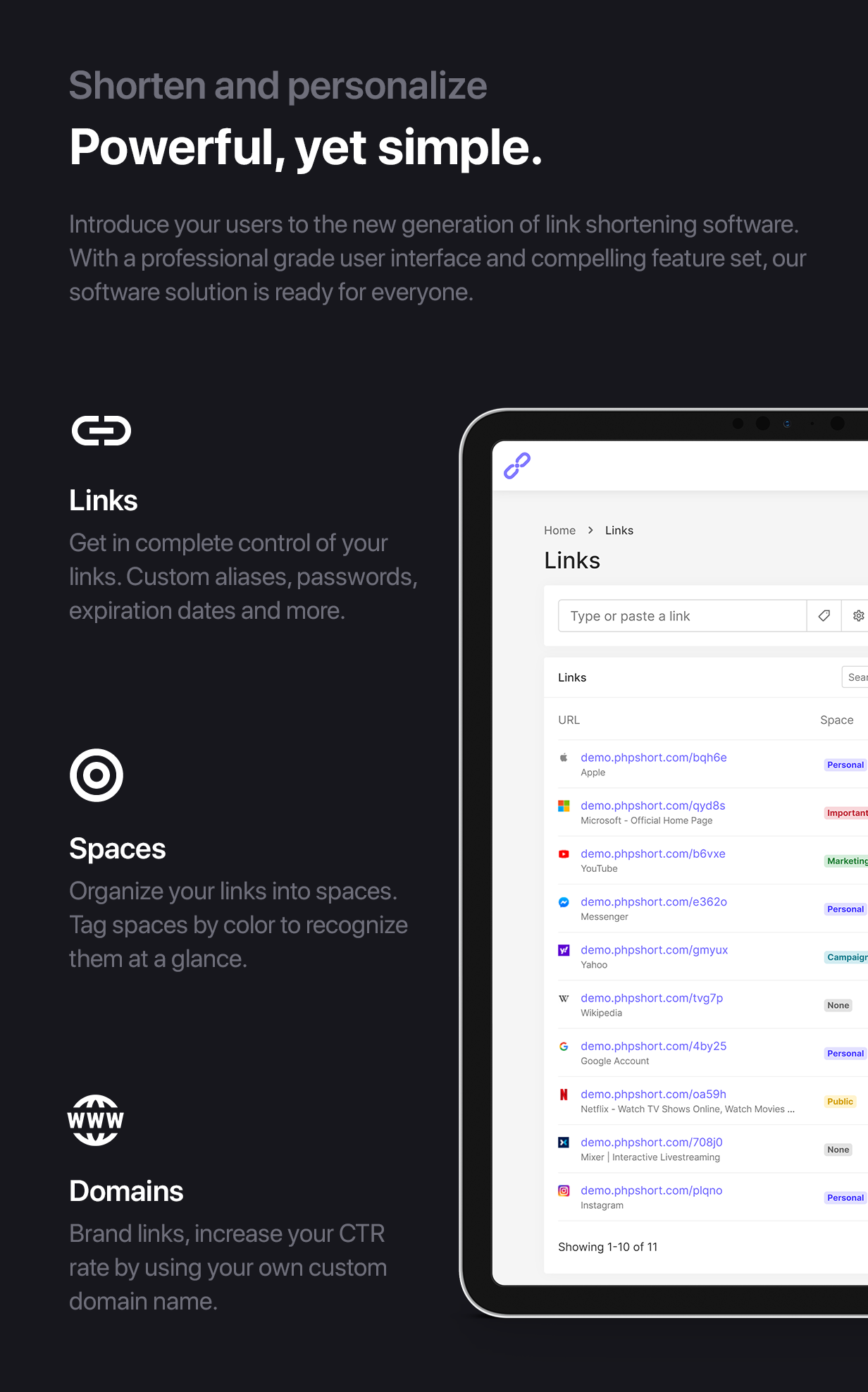 phpShort - URL Shortener Platform - 4