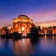 Panoramic view of the Palace of Fine Arts at Sunset in San Francisco, California - PhotoDune Item for Sale