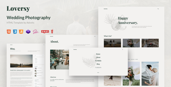 Loversy - Wedding Photography HTML Template