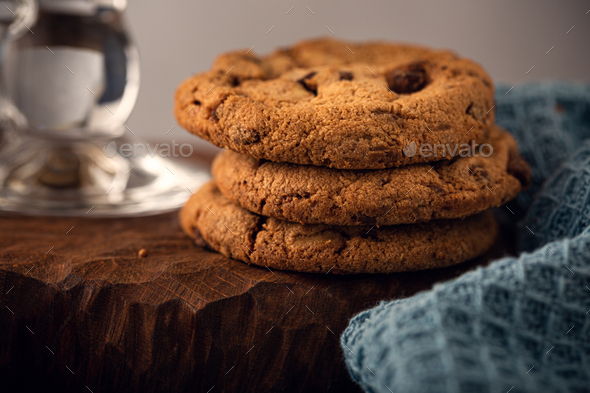 Chocolate chip cookies - Stock Photo - Images