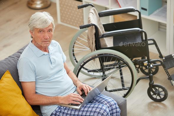 Senior man working online - Stock Photo - Images