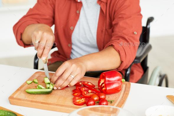 Woman preparing food - Stock Photo - Images