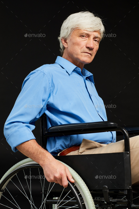 Senior man with disability - Stock Photo - Images