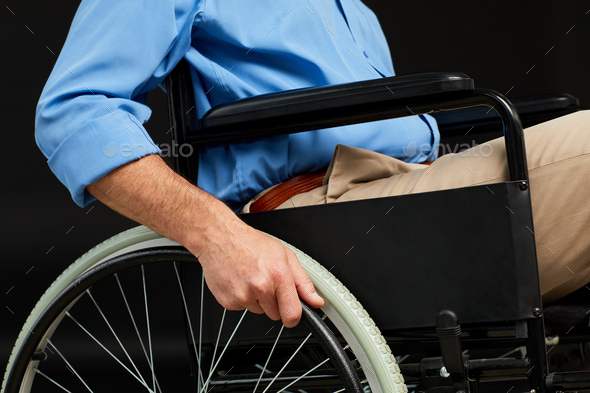 Patient in wheelchair - Stock Photo - Images