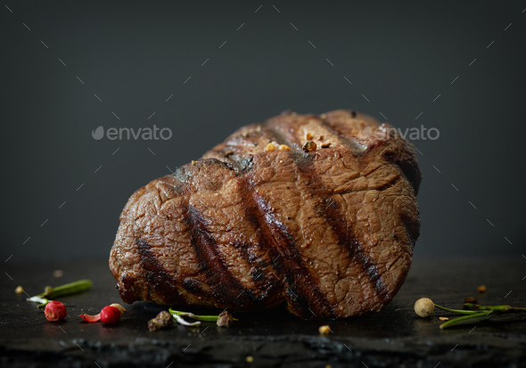 grilled beef fillet steak - Stock Photo - Images