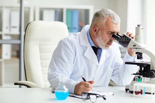 Chemist working at the laboratory - Stock Photo - Images
