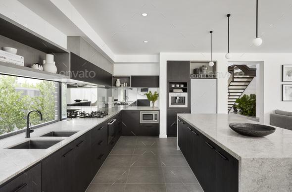 Stylish Modern Kitchen - Stock Photo - Images