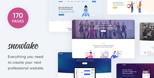 Snowlake - Creative Business & Startup Template