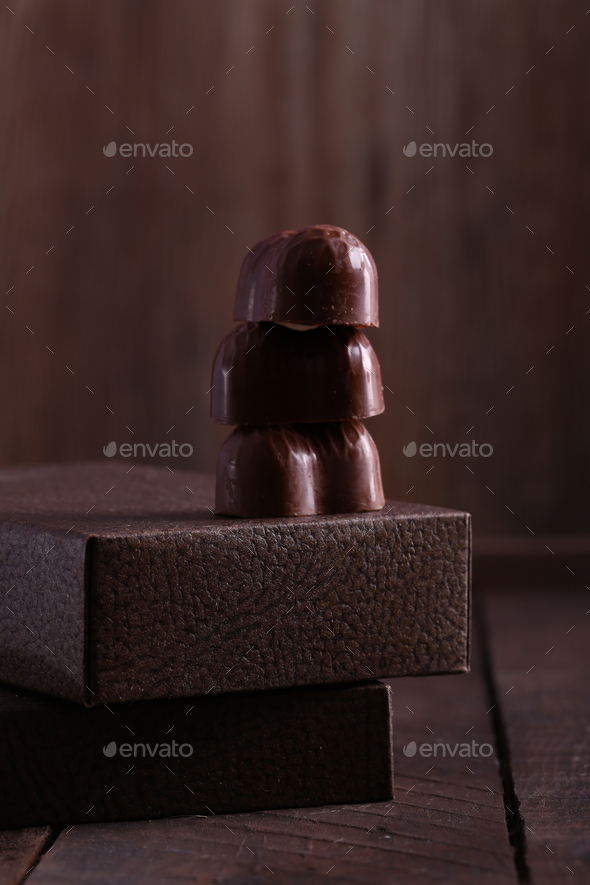 Chocolate Candies Pralines - Stock Photo - Images