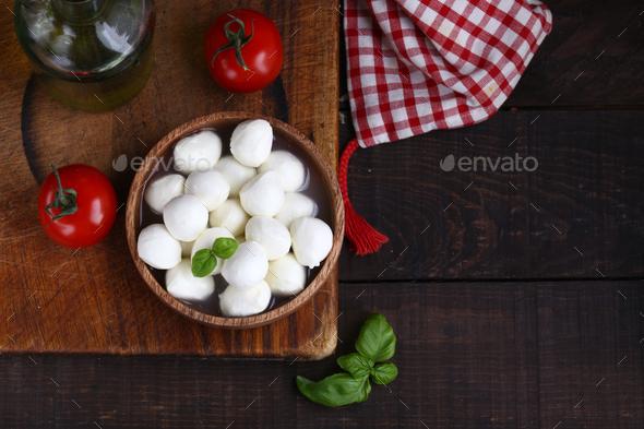 Mini Mozzarella Cheese - Stock Photo - Images