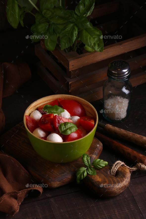 Italian Caprese Salad - Stock Photo - Images
