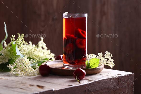 Lemonade Cherry Juice - Stock Photo - Images