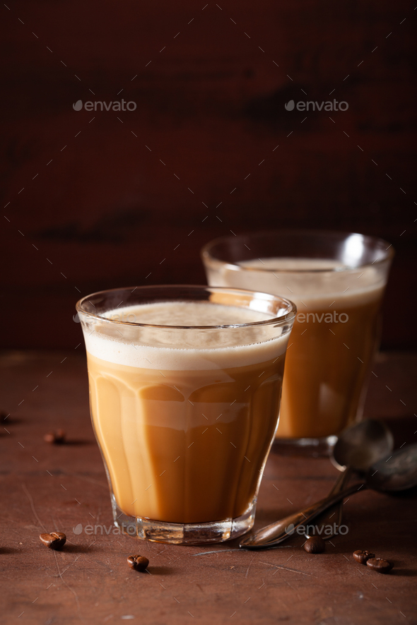 bulletproof coffee, keto paleo drink blended with butter and coconut oil - Stock Photo - Images