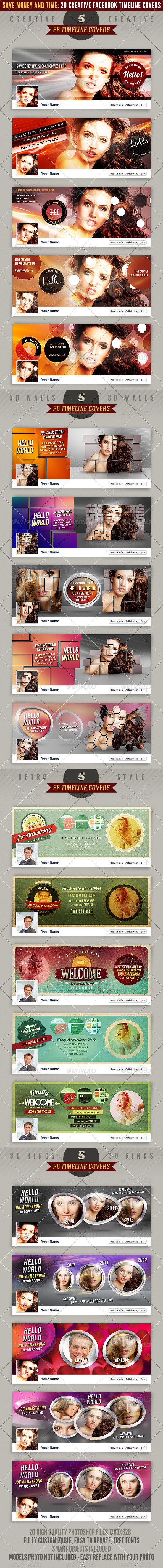 20 Facebook Timeline Covers Bundle - Facebook Timeline Covers Social Media