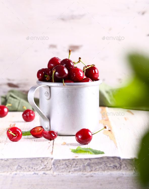 Fresh Berries Cherry - Stock Photo - Images