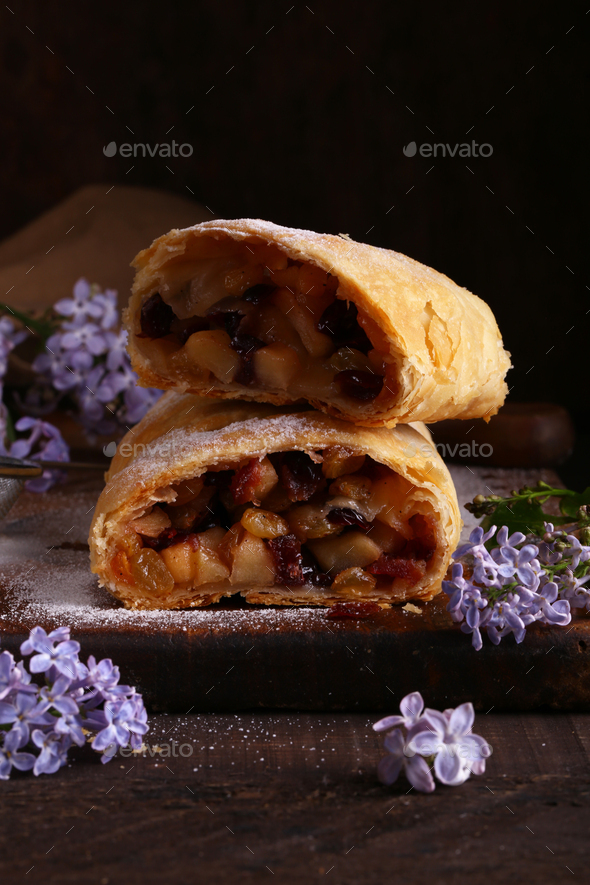 Puff Pastry Strudel - Stock Photo - Images