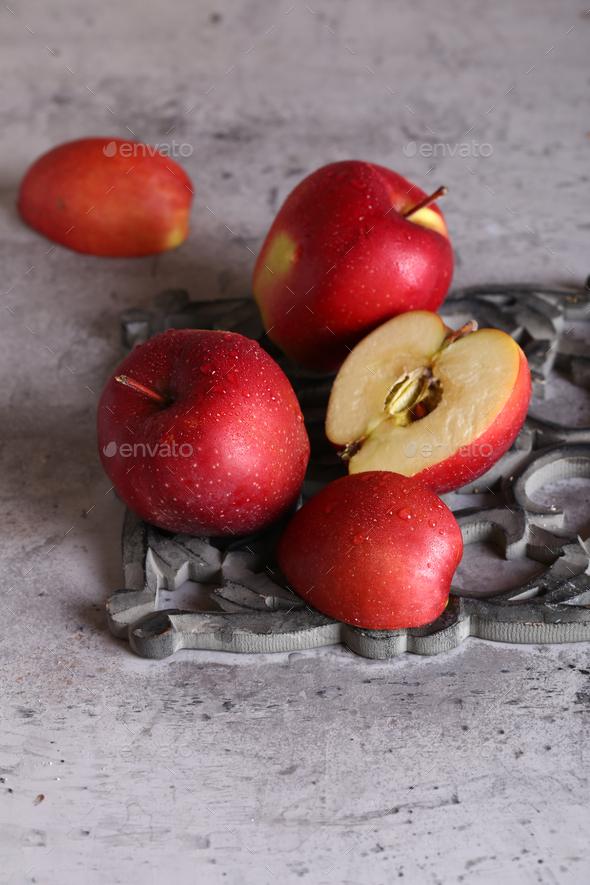 Organic Fresh Apples - Stock Photo - Images