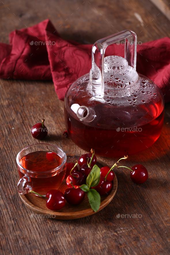 Cherry Berry Tea - Stock Photo - Images