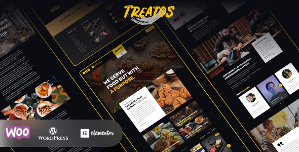 Treatos - Restaurant Theme