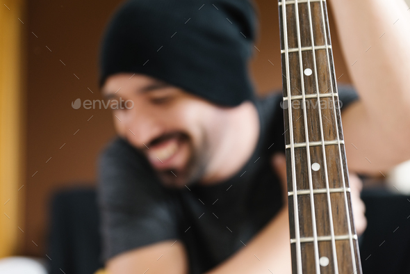 Young man composing music. - Stock Photo - Images