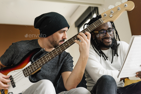 Artists producing music. - Stock Photo - Images