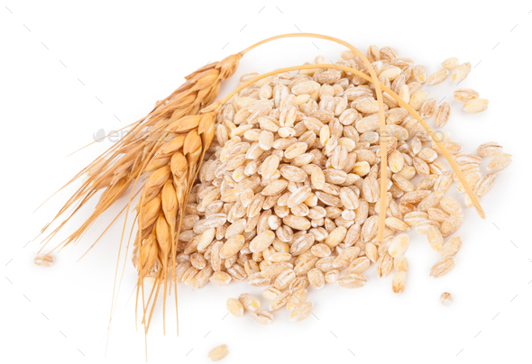 Pearl barley with spikelets - Stock Photo - Images