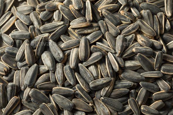 Raw Organic Sunflower Seedsd - Stock Photo - Images