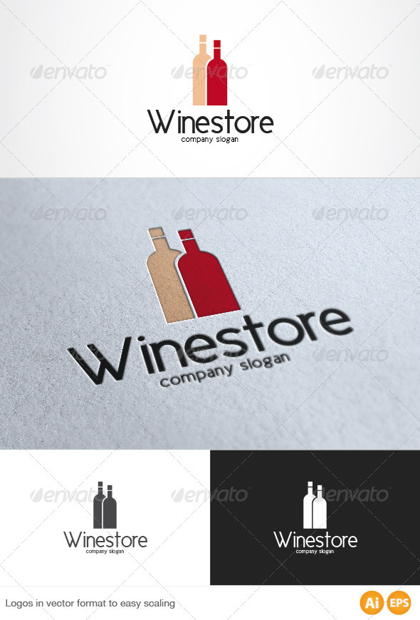 Wine Store Logo - Food Logo Templates