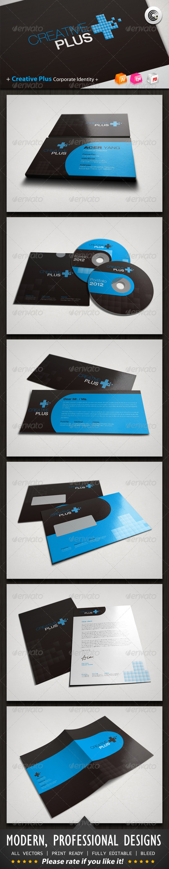Creative Plus Corporate Identity - Stationery Print Templates