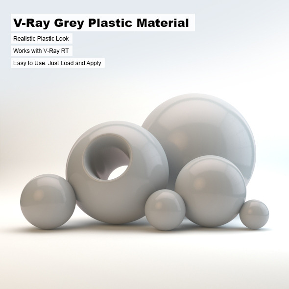 V-Ray Grey Plastic Material - 3DOcean Item for Sale