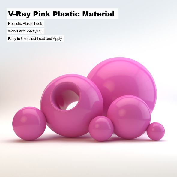 V-Ray Pink Plastic Material - 3DOcean Item for Sale