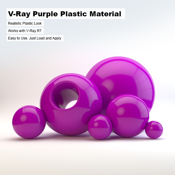 V-Ray Purple Plastic Material - 3DOcean Item for Sale