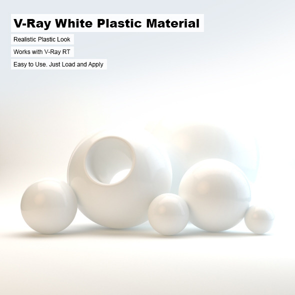 V-Ray White Plastic Material - 3DOcean Item for Sale