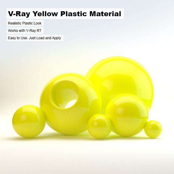 V-Ray Yellow Plastic Material - 3DOcean Item for Sale