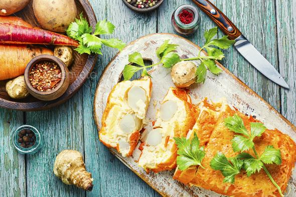 Appetizing vegetable terrine - Stock Photo - Images