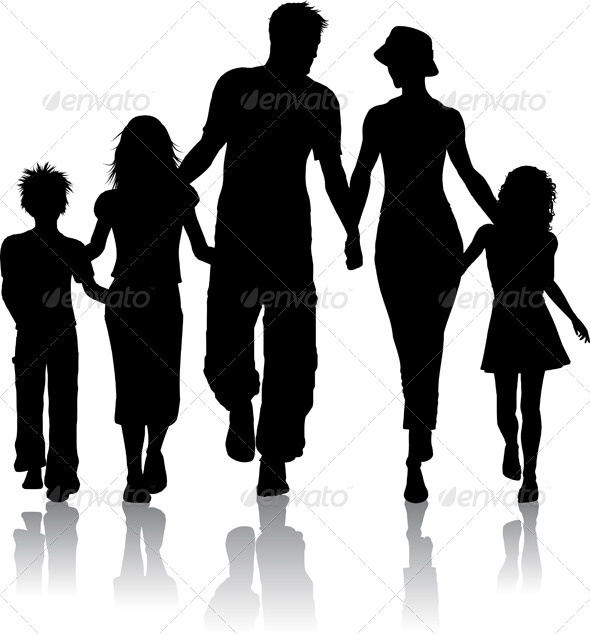 Family silhouette - People Characters