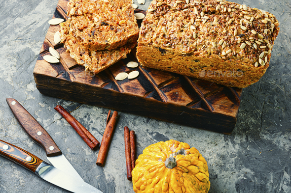 Homemade pumpkin bread. - Stock Photo - Images