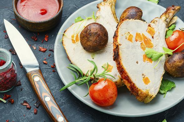 Appetizing pork rack - Stock Photo - Images