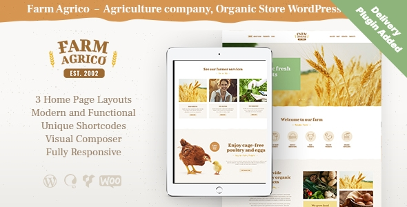 Farm Agrico | Agricultural Business & Organic Food WordPress Theme