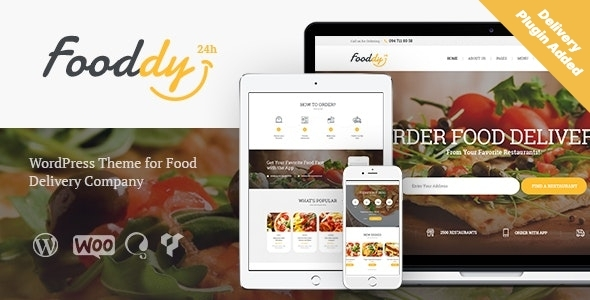 Fooddy 24/7 - Food Ordering & Delivery WordPress Theme + RTL