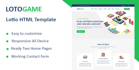 Good LotoGame - Digital Lotto & Lottery HTML Template