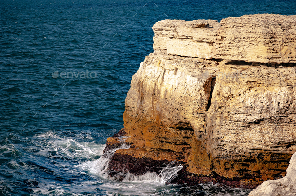 Rocky coast of the Black Sea - Stock Photo - Images