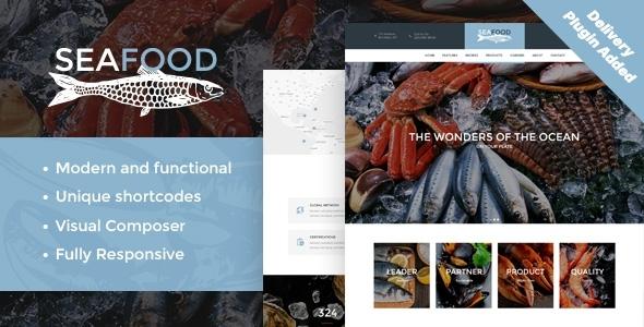 Extraordinary Seafood Company & Fish Restaurant WordPress Theme