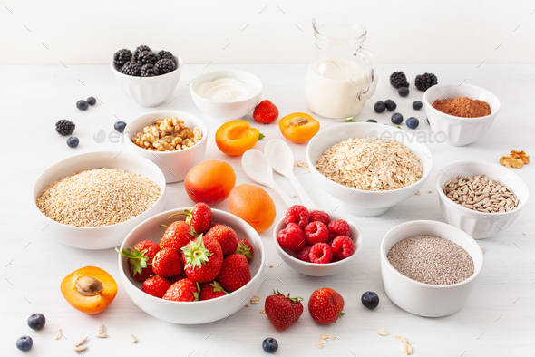 cereals, fruits - Stock Photo - Images