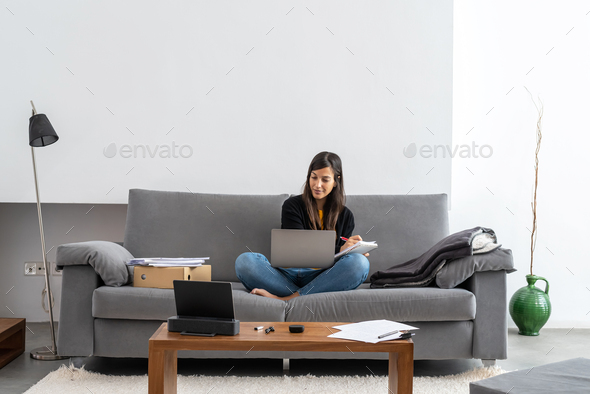 Telecommuting at home - Stock Photo - Images